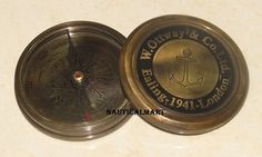Original Maritime Nautical Robert Frost Antiques Compass With Leather Case To Suit The PeopleS Convenience Maritime Compasses
