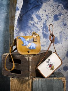 You Have to See these Unique Bags Disney and Coach Made to Benefit the Met | hand-painted Coach bags featuring Dumbo and Mickey Mouse | [ http://di.sn/600888oi0 ]