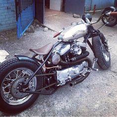 Harley evo custom bobber   Bobber Inspiration - Bobbers and Custom Motorcycles   carlindrummer August 2014