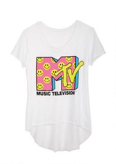 MTV Smiley Faces Tee - View All Graphic Tees - Graphic Tees - Clothing - dELiA*s