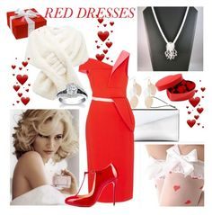"""""""Valentine"""" by seadbeady ❤ liked on Polyvore featuring Marni, Antonio Berardi, Tommy Hilfiger, Forever New, Cosgirl, Christian Louboutin and reddress"""