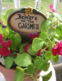 Garden Sign Gnome and Fairy garden
