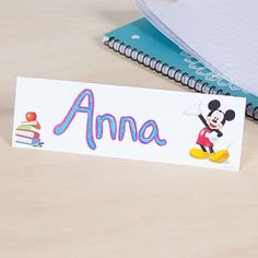 Learn the names of your students quickly with these cute Mickey-themed cards.