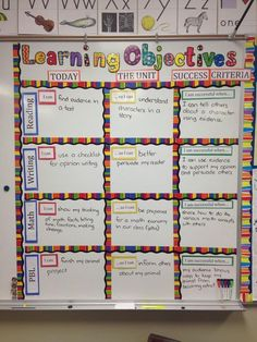 Learning Objectives at a Glance: Keeps the students (and teacher) focused on the learning goals!