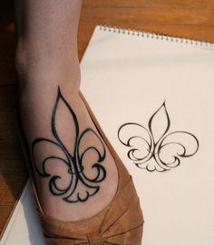 my Fleur de Lis tattoo - drew the design myself! ^_^