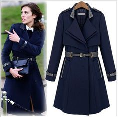 Cheap outerwear boys, Buy Quality outerwear waterproof directly from China belt pulley Suppliers:  2014 New Fashion High Quality Female Patchwork Spring Autumn Double Breasted Trench Coat Casual Loose Mediu
