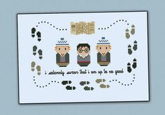 Harry Potter - Marauder's Map - Mini People - Cross Stitch Patterns - Products