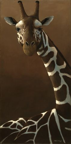 Giraffe Portrait by Travis Troy ~ acrylic on canvas