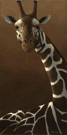 Giraffe Portrait by Travis Troy ~ acrylic on canvas