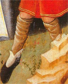 Medias-calzas.  Natividad, Nicolás Francés, 1430, Museo del Prado, Madrid