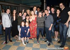 Sara Bareilles with the cast making their Broadway debuts during the WAITRESS Gypsy Robe Ceremony!