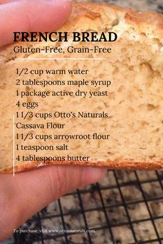 French Bread (gluten-free, grain-free, nut-free, coconut-free) made with @ottosnaturals Cassava Flour | www.ottosnaturals.com