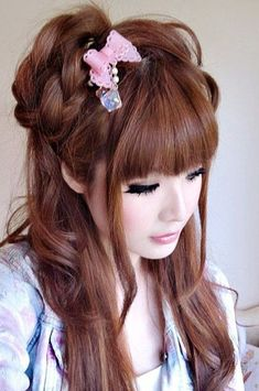 cool japanese long hairstyles updo - Google Search...