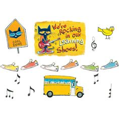 Pete the Cat motivates students to learn with a rockin' classroom bulletin board! Includes large banner piece, 36 colorful shoes, and teacher guide with activities and reproducibles. Teacher Created Resources, Teaching Resources, Alphabet Games For Kindergarten, Pete The Cats, Teacher Must Haves, Classroom Bulletin Boards, Classroom Decor, Preschool Classroom, Birthday Charts