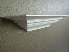12  inch White Shabby Chic Wall Shelf by craftsbymerle on Etsy, $30.00