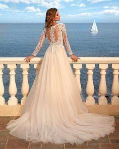 24 Stunning Trend: Tattoo Effect Wedding Dresses ❤ tattoo effect wedding dresses a line with illusion sleeves lace nicolemilano #weddingforward #wedding #bride #weddingoutfit #bridaloutfit #weddinggown