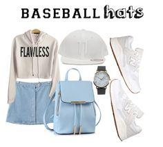 """baseball hats"" by retnoversoo on Polyvore featuring NLY Accessories, Chicnova Fashion, 11 by Boris Bidjan Saberi, New Balance, baseballcap and baseballhats"