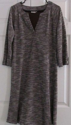 Ellie Kai Dress, Size XL, Brown Knit, 50% Cotton, 50% Polyester, NWOT #EllieKai #Dress #Casual