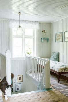 Happy House, My House, Bedroom Closet Design, White Picket Fence, Scandinavian Home, Interior And Exterior, Cribs, Shabby Chic, House Ideas