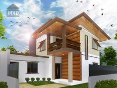 Architectural Rendering: Proposed Two-Storey Residence