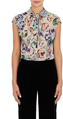 Shop Now - >  https://api.shopstyle.com/action/apiVisitRetailer?id=543358487&pid=uid6996-25233114-59 Giorgio Armani Women's Watercolor-Flower-Print Silk Blouse  ...