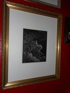 "Gustave Doré ""The vision of death"" lithography 1868 with this gorgeous new larson juhl custom frame !!"