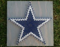 Check out our dallas cowboys selection for the very best in unique or custom, handmade pieces from our shops. String Wall Art, Nail String Art, String Crafts, Fun Crafts, Diy And Crafts, Arts And Crafts, Dallas Cowboys Crafts, Dallas Cowboys Star, Cowboys Football