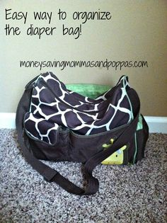 Easy way to organize the diaper bag! PIN NOW!