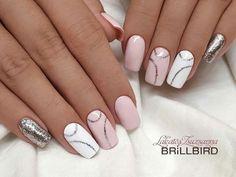 nails - NagelDesign Elegant ( Pretty love the simple ) elegant manicure nagelde Manicure Nail Designs, Nail Manicure, Gel Nails, Nail Polish, Stiletto Nails, Nails Design, Acrylic Nails, Elegant Nail Designs, Elegant Nails
