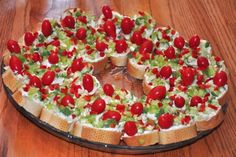 Red & Green HEALTHY  APPETIZER WREATH