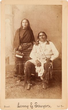CHEYENNE MAN SINBOW AND WIFE, BOUDOIR PHOTO BY LENNY AND SAWYERS, PURCELL, INDIAN TERRITORY