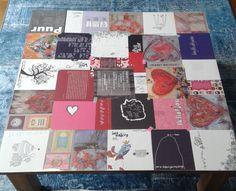 Tafelziel .... Boek met mooie platen uit elkaar halen en met Washi-tape vastplakken