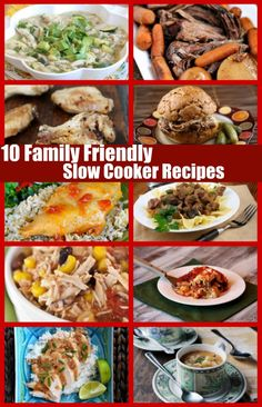 10 Family Friendly Slow Cooker Recipes: super easy weeknight dinner recipes that your family will actually eat!  Perfect for busy nights where you don't have time to make dinner.