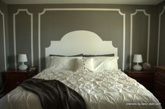Paint on a headboard instead of buying one.