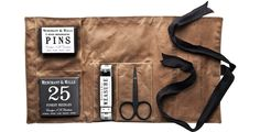 We love this Oilskin Sewing Kit from Kaufmann Mercantile