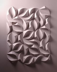 Artist Crafts Incredible Three-Dimensional Paper Sculptures by Hand paper sculpture Paper Artist Engineers Incredible Relief Sculptures Entirely by Hand Geometric Sculpture, Sculpture Art, Paper Sculptures, Geometric Tiles, Origami Paper Art, Paper Crafts, Paper Paper, Origami Artist, 3d Paper Art
