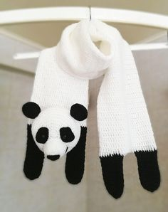 This is PDF PATTERN ONLY for making this scarf yourself. Animal ScarfPanda Scarf Crochet Pattern PDFSize: 50 x 6 inches x 15 cm)I Crochet Panda, Crochet For Kids, Crochet Baby, Hat Patterns To Sew, Crochet Patterns, Crochet Dinosaur Pattern Free, Panda Costumes, Crochet Scarves, Knitting Designs