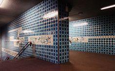Maria Keil | Estação / Station Anjos | Metropolitano de Lisboa / Lisbon Underground | 1966 #Azulejo #MariaKeil #MetroDeLisboa