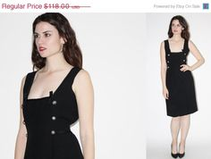 ON SALE 25% Off  60s Black Cocktail Dress   Vintage by aiseirigh