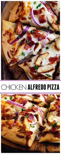 This Chicken Alfredo Pizza will be the best that you make! The homemade alfredo sauce is out of this world and the dough is quick and easy and only requires 20 minutes of rest time! A total win for pizza night!