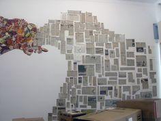 installation view of Julia Rosa Clark Hypocrite's Lament 2007 Joao Ferriera Gallery, Cape Town including  Hypocrite's Lament (Part 5: Too much, Too young)