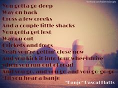 """Banjo"" ~Rascal Flatts"