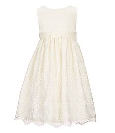 American Princess Little Girls 2T-6X Floral-Embroidered-Skirted Dress