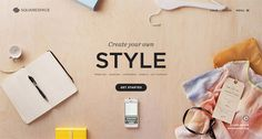 Showcase of Web Designs Based on a Desk Top View