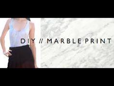DIY | MARBLE PRINT -