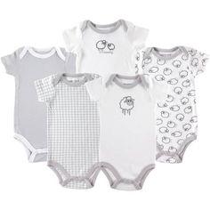 Luvable Friends Newborn Baby Unisex Bodysuits, 5-Pack - Walmart.com