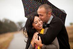 Rainy Day Fall Engagement Session | Heart Love Weddings | Kim J Martin Photography
