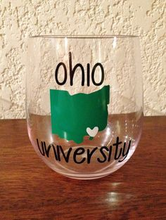 Athens, Ohio High-Impact Acrylic Wine Glass - OU Bobcats
