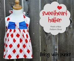 Peek-a-Boo Patterns Sweetheart Halter by Living with Punks. Enter to win a 5 pattern pack. Ends 5/4!