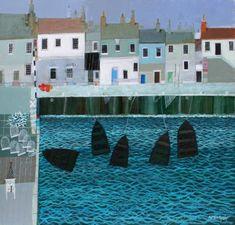 Scottish Artist Archie Dunbar McINTOSH-Fife Harbour